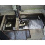 Limpeza de caixa separadora de água e óleo
